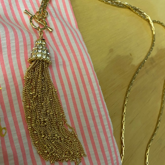 Lily Necklace with tassel